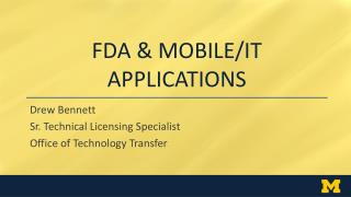 FDA & MOBILE/IT Applications