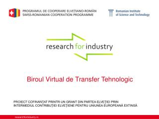 Biroul  Virtual de Transfer  Tehnologic
