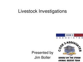 Livestock Investigations