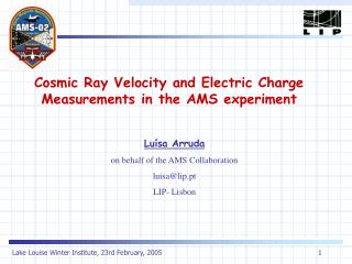 Cosmic Ray Velocity and Electric Charge Measurements in the AMS experiment