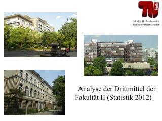 Analyse der Drittmittel der     Fakultät II (Statistik 2012)