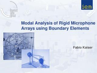 Modal Analysis  of  Rigid  Microphone  Arrays  using Boundary  Elements