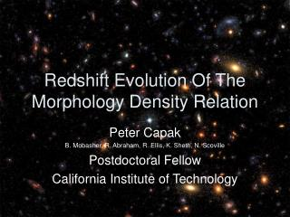 Redshift Evolution Of The Morphology Density Relation