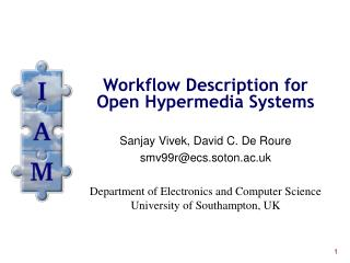 Workflow Description for Open Hypermedia Systems
