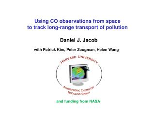 Using CO observations from space  to  track long-range transport of pollution