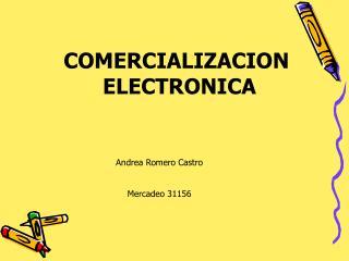 COMERCIALIZACION  ELECTRONICA