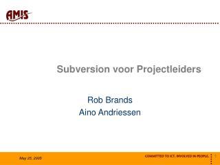 Subversion voor Projectleiders
