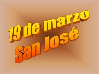 19 de marzo San José
