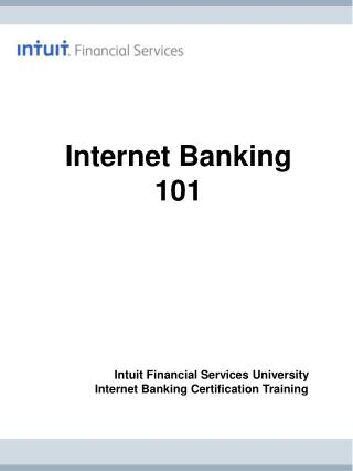 Internet Banking 101