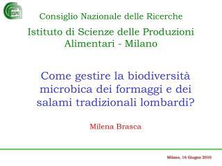 Milano, 16 Giugno 2010