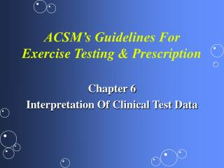 ACSM s Guidelines For Exercise Testing  Prescription