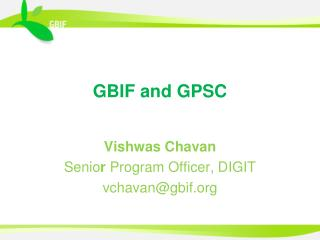 GBIF and GPSC