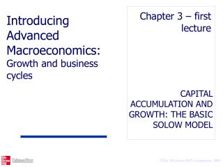 CAPITAL ACCUMULATION AND GROWTH: THE BASIC SOLOW MODEL