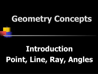Geometry Concepts