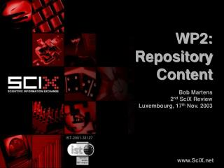 WP2:  Repository Content