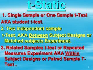 t-Static