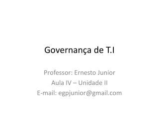 Governança de T.I