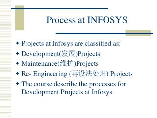 Process at INFOSYS