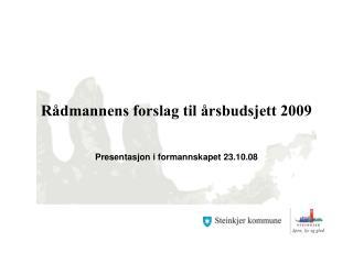 Rådmannens forslag til årsbudsjett 2009