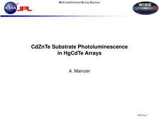 CdZnTe Substrate Photoluminescence in HgCdTe Arrays