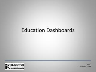 Education Dashboards