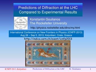 Predictions of Diffraction at the LHC Compared to Experimental Results