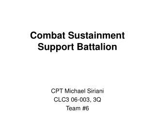 Combat Sustainment Support Battalion