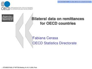 Bilateral data on remittances  for OECD countries