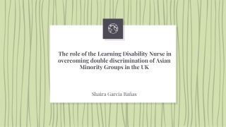 THE ROLE OF THE LEARNING DISABILITY NURSE