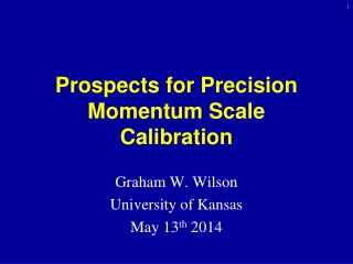Prospects for Precision Momentum Scale Calibration