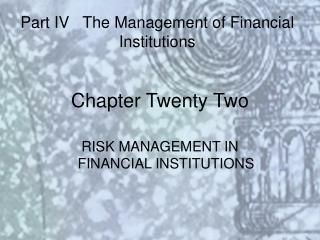 Chapter Twenty Two