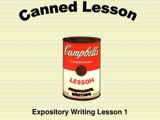 Expository Writing Lesson 1