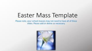 Easter Mass Template