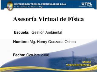 Asesoría Virtual de Física