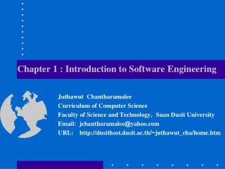 Chapter 1 : Introduction  to  Software Engineering