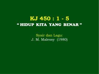 KJ  450  : 1 -  5