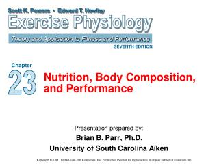 Nutrition, Body Composition, and Performance
