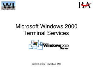 Microsoft Windows 2000 Terminal Services