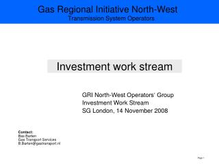 Investment work stream
