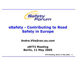eSafety - Contributing to Road Safety in Europe
