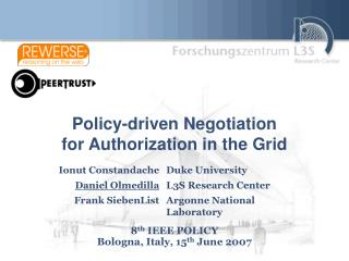 Policy-driven Negotiation for Authorization in the Grid