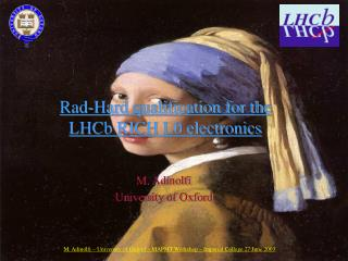 Rad-Hard qualification for the LHCb RICH L0 electronics