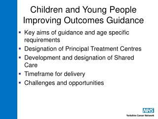 Children and Young People Improving Outcomes Guidance