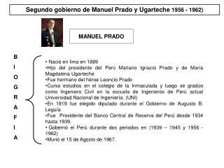 Segundo gobierno de Manuel Prado y Ugarteche  1956 - 1962)