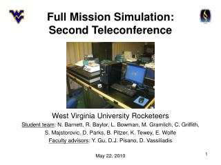 Full Mission Simulation: Second Teleconference