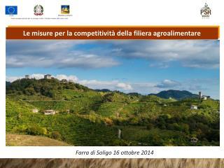 Le misure per la competitività della filiera agroalimentare