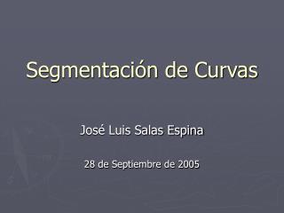 Segmentaci�n de Curvas
