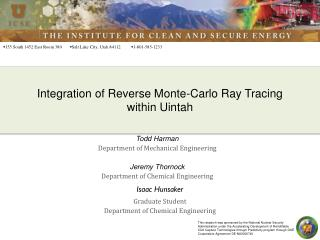 Integration of Reverse Monte-Carlo Ray Tracing within Uintah