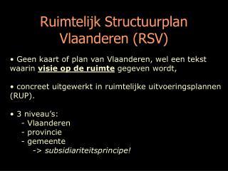 Ruimtelijk Structuurplan Vlaanderen (RSV)