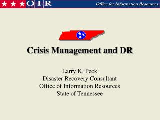 Crisis Management and DR